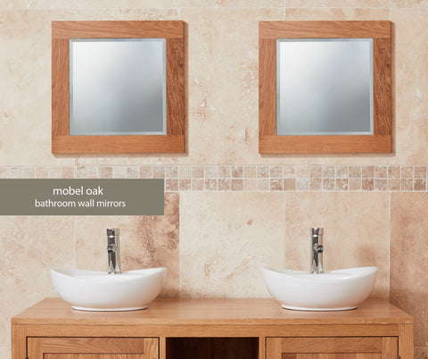 Mobel Oak Solid Oak Small Mirror