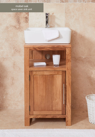 Solid Oak Single Door Square Sink Unit