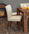Shiro Walnut Flare Back Upholstered Dining Chair - Biscuit Shade (Pack of Two)