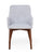 Shiro Walnut Light Grey Chair (Pack of two)