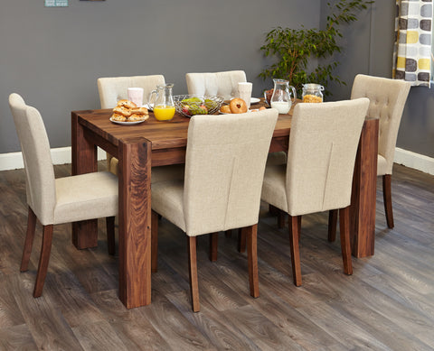 Shiro Walnut 150cm Dining Table (4-6 Seater)
