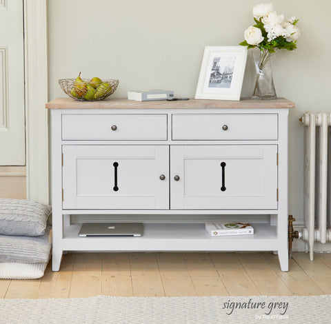 Signature Grey Small Sideboard / Hall Console Storage Table