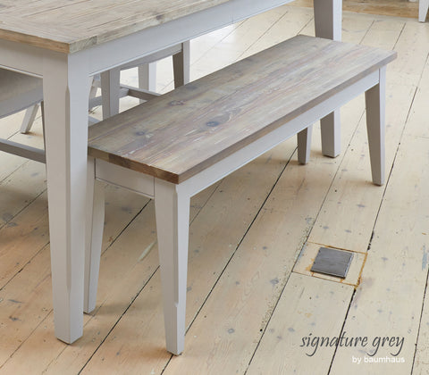 Signature Grey 3-Seater Dining Bench