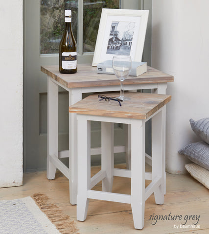 Signature Grey Nest of Two Tables