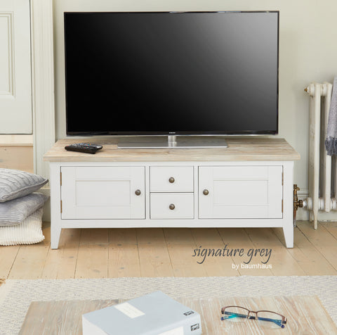 Signature Grey Widescreen Television Stand