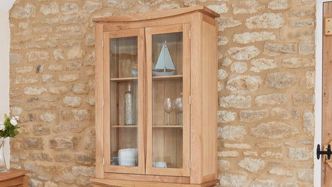 Roscoe Contemporary Oak Glazed Display Cabinet (TOP ONLY)
