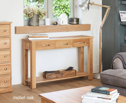 Mobel Oak Console Table