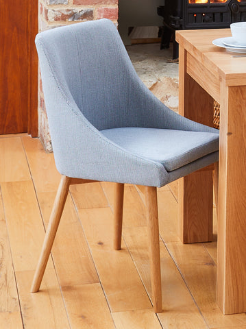 Mobel Oak Grey Chair (Pack Of Two)