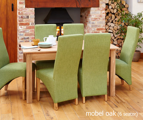 Mobel Oak 150cm Dining Table (4-6 Seats)