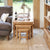 Mobel Oak Nest of Three Coffee Tables
