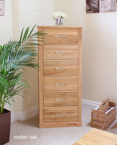 Mobel Oak Tallboy (Six Drawer)