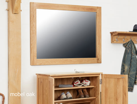 Mobel Oak Wall Mirror Medium