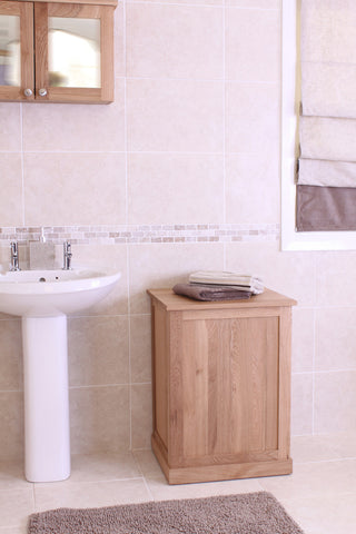 Mobel Oak Laundry Basket