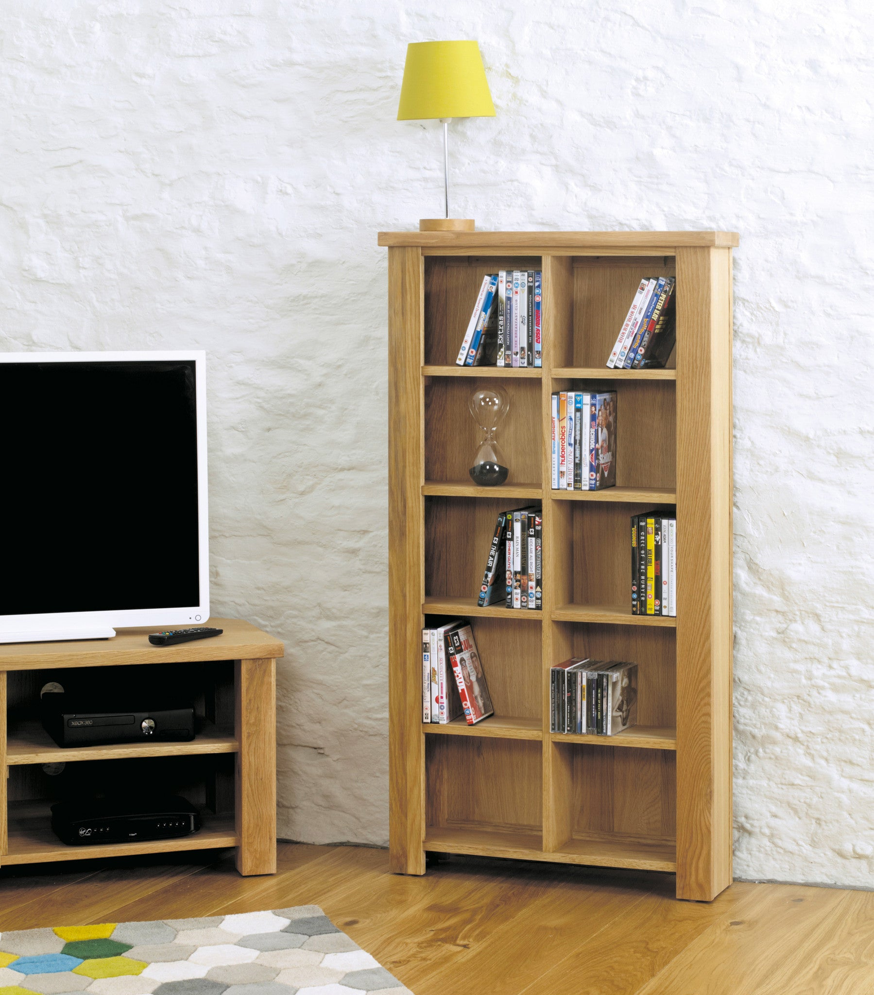 msl open product cabinet oak warwick bookcase dvd slim narrow cd solid lw bookcases cddvd