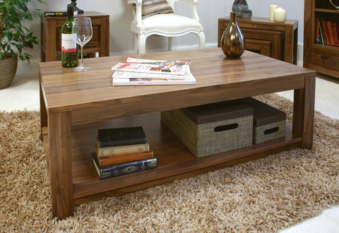 Mayan Walnut Open Coffee Table