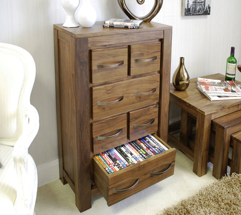 Mayan Walnut DVD / CD Storage Chest
