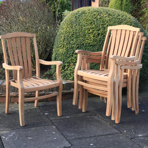 Teak Grand Stacker Armchair