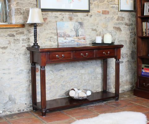 La Roque Mahogany Console / Hall Table (With Drawers)