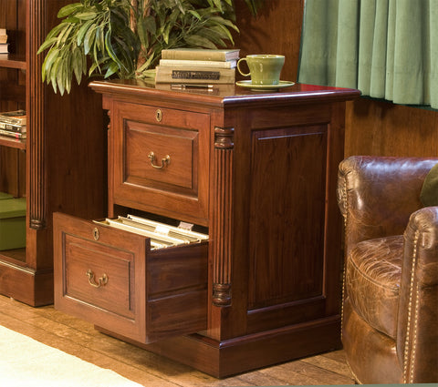 La Roque Mahogany Two Drawer Filing Cabinet