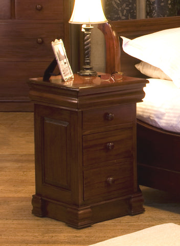 La Roque Mahogany 4 Drawer Lit Bateau Lamp Table