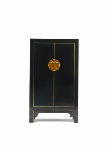 The Nine Schools Qing Black and Gilt Storage Cabinet