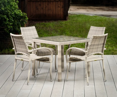 Paris Rattan Range Square Dining Table set