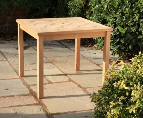 Teak Square Dining Table (900mm)