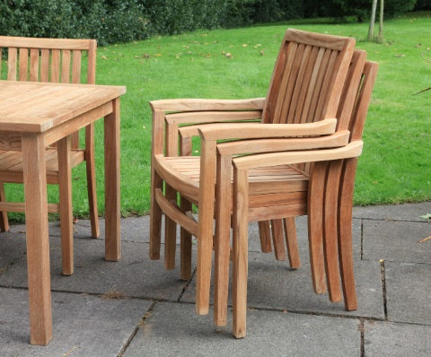 Teak Stacker Armchair