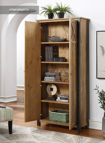 Urban Elegance Reclaimed Living Room Storage Cabinet