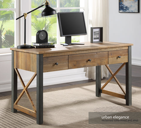 Urban Elegance Reclaimed Home Office Desk / Dressing Table