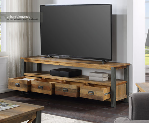 Urban Elegance Reclaimed Extra Large Widescreen TV unit