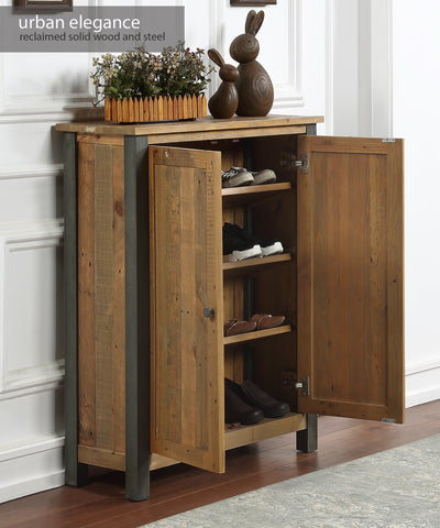 Urban Elegance Reclaimed Small Shoe Storage Cupboard