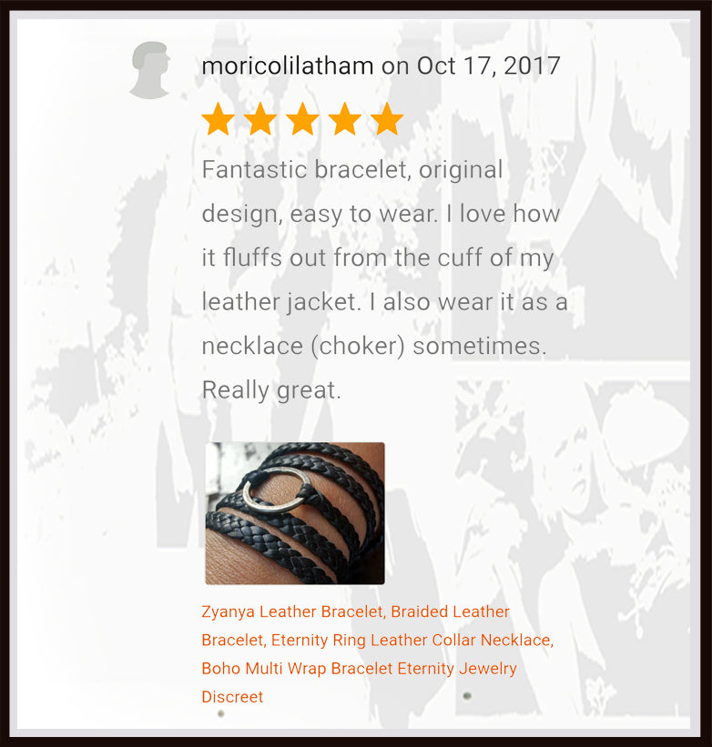 zyanya slave necklace and wrap bracelet review from etsy