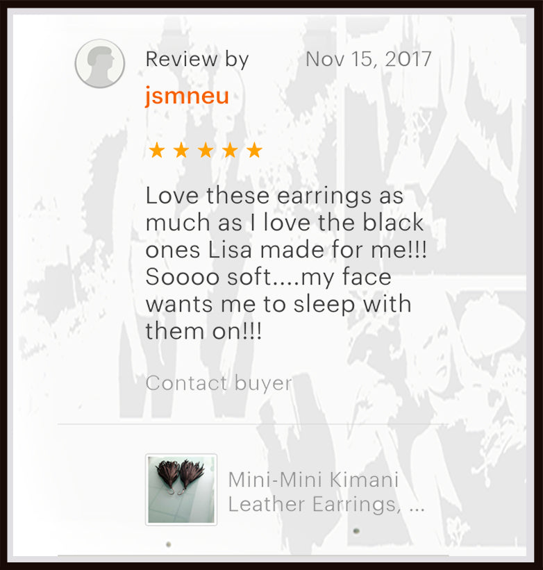kimani leather tassel earrings review from etsy shop