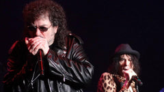 Magic Dick in his Lisa Cantalupo custom leather jacket with Peter Wolfe performing with the J. Geils Band