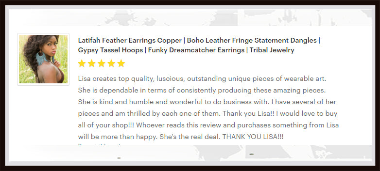 latifah fringe dreamcatcher hoop earrings review from shop on estsy