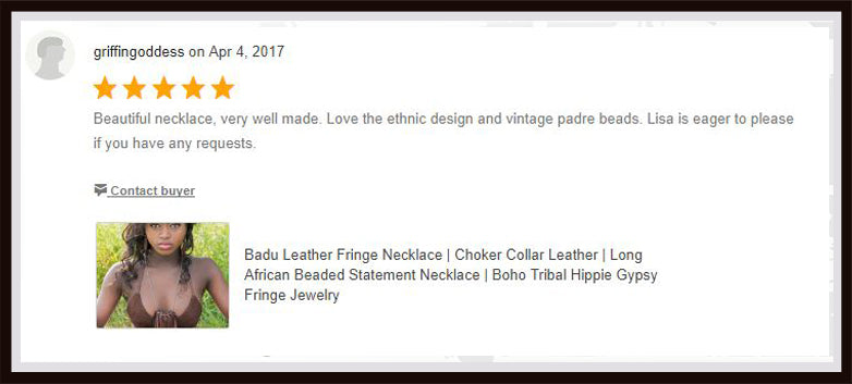 badu fringe necklace review from etsy