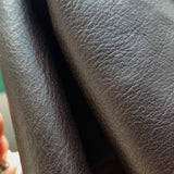 plonge cow-side leather in chocolate brown color