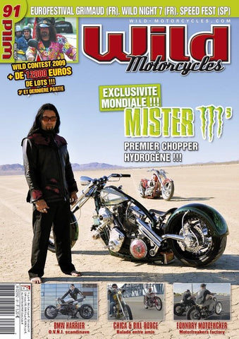 celebrity builder alan lee wearing his custom designed dragon pocket jacket on cover of wild motorcycles magazine