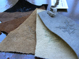 pigsuede leather cuttings
