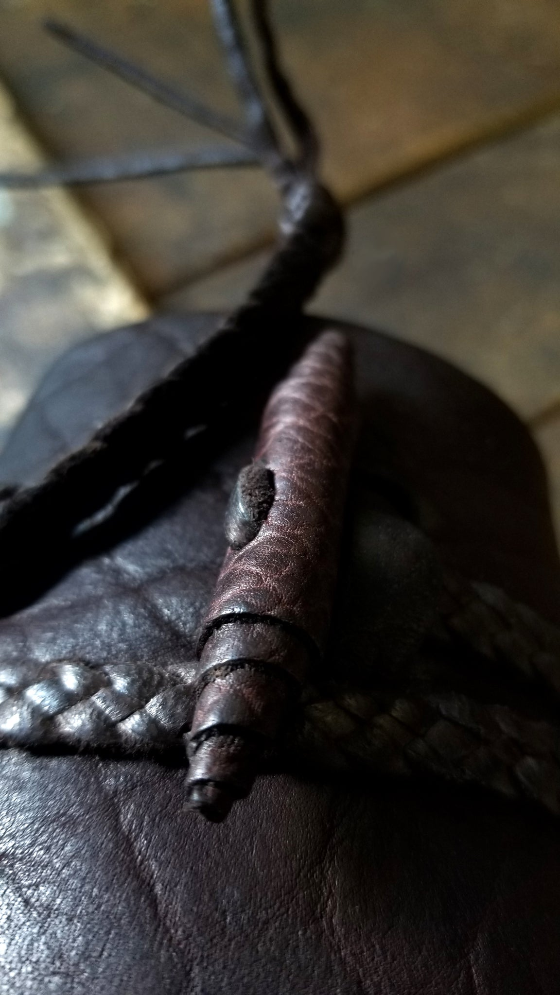 handmade bison leather button on busajja leather wrap cuff, jason momoa bohemian style men's leather cuff