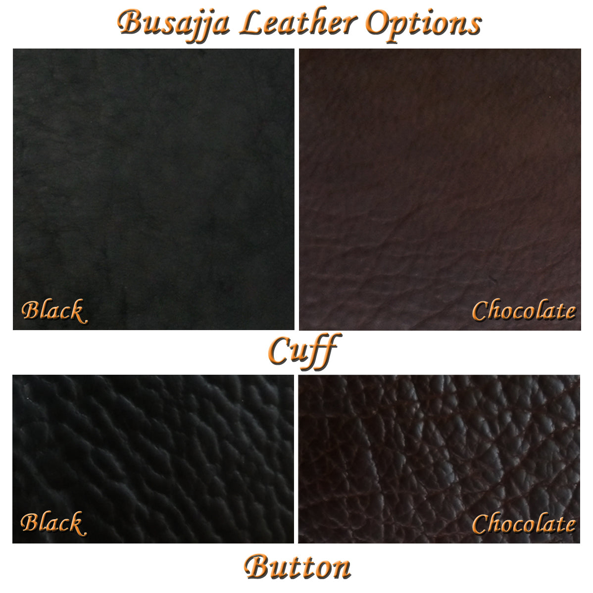 Busajja Leather Wrap Cuff Bison Leather Color Choices