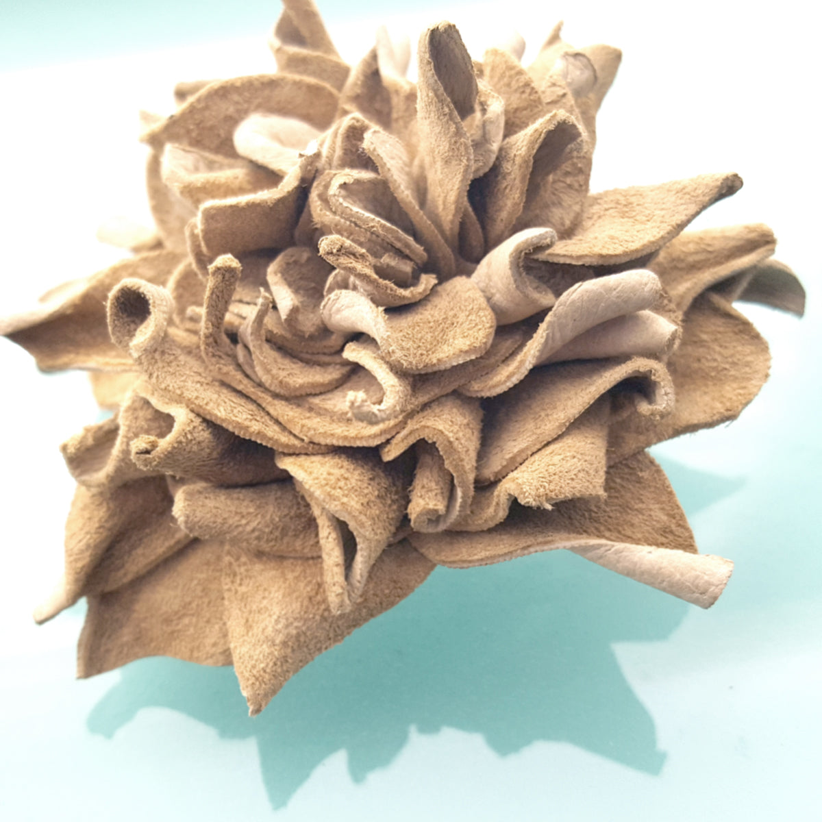 hair decoration, brides or bridesmaids, for clothes or hair, leather flower pin or clip