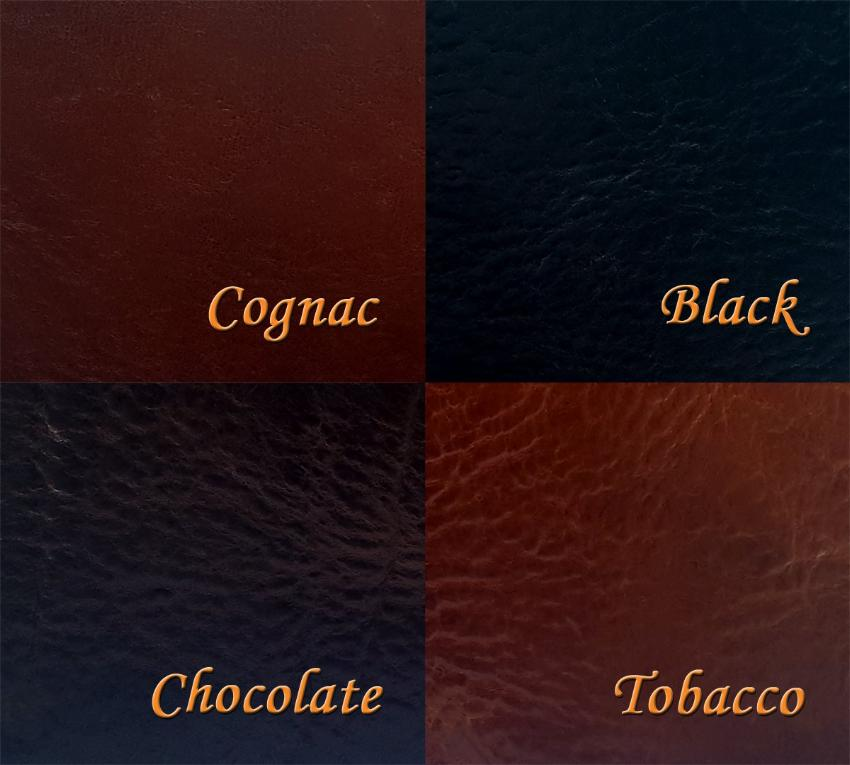 leather color options for Tyrese Twist Braided Leather Clasp Bracelet Black, Cognac, Chocolate