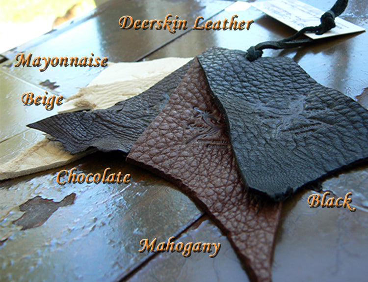 deerskin leather color card, color options, color selection for kyra bikini set