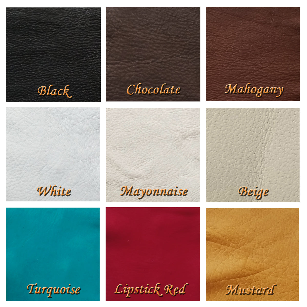 deerskin leather cuttings - leather color options