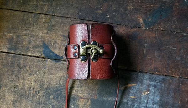 Hook Leather Cuff | Hook & Latch Wide Leather Cuff