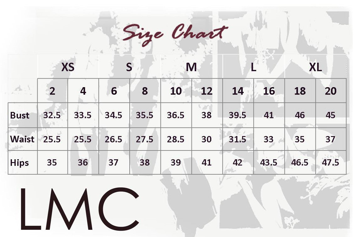 Lisa M Cantalupo leather and size chart