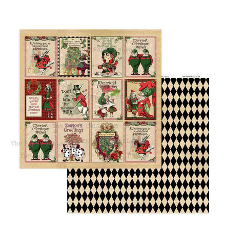 Alice Christmas Cut Aparts Paper