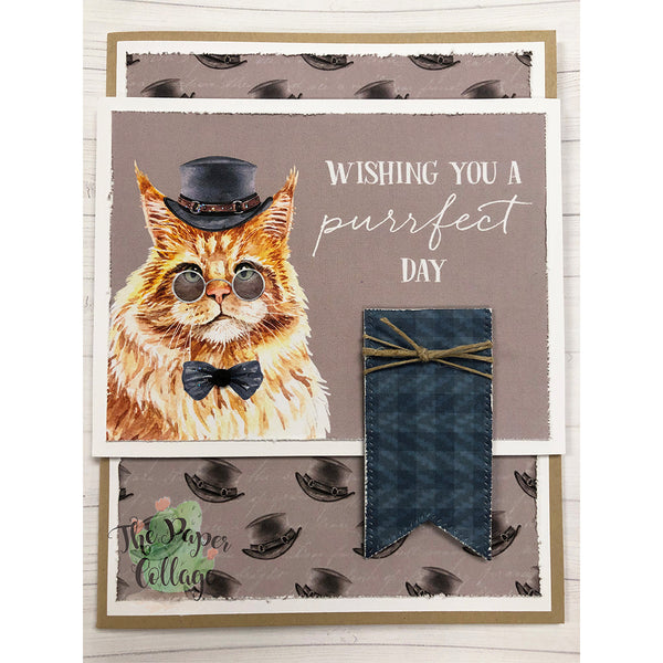 12x12 Paper - Fancy Cats Top Hats